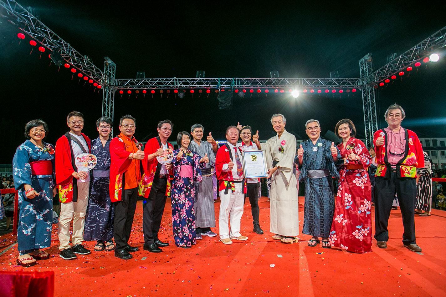 日本盆舞节迈入20个年头,成功挑战马来西亚纪录大全
